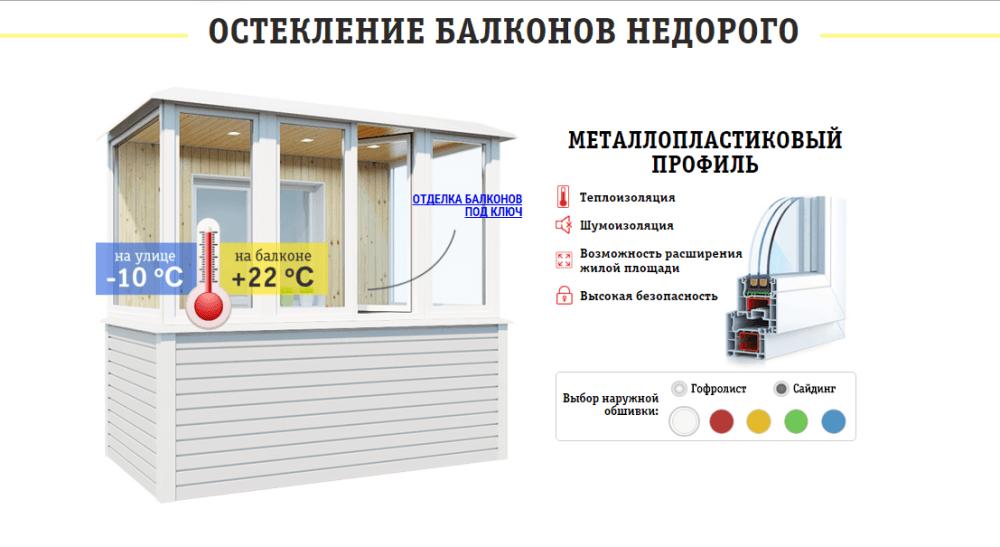 Остекление балкона под ключ, застеклить балкон , киев..